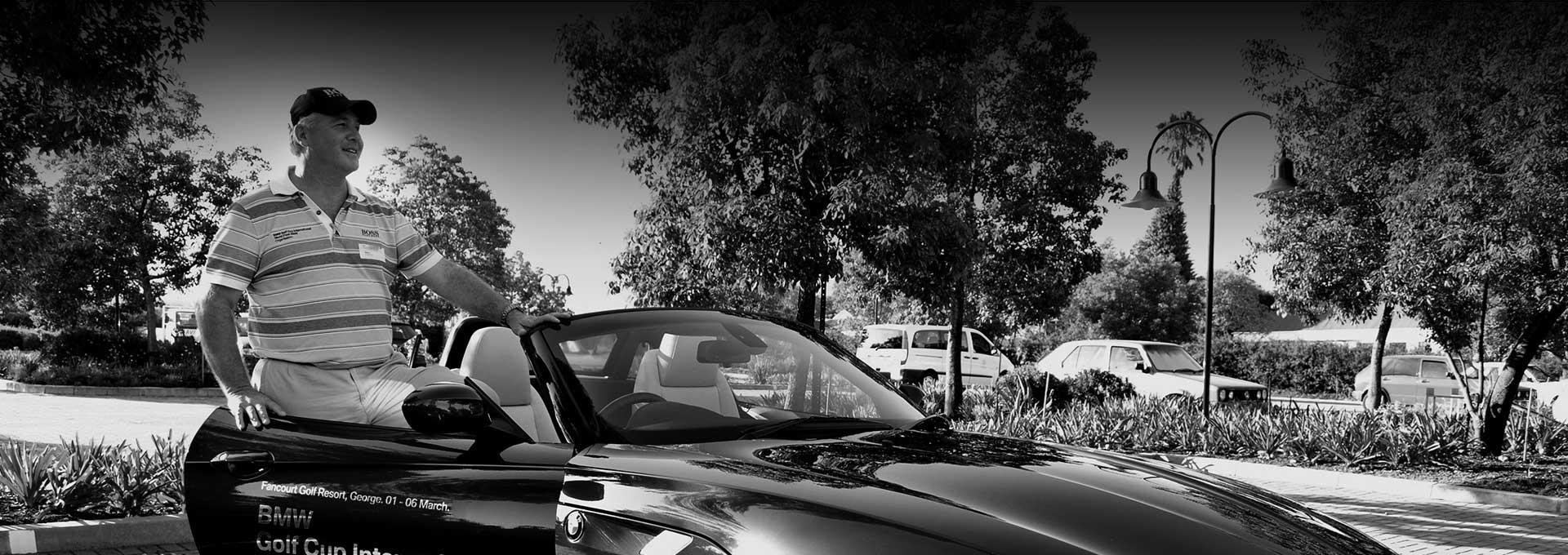 Mario Febbraio driving for the BMW Golf Cup International World Final